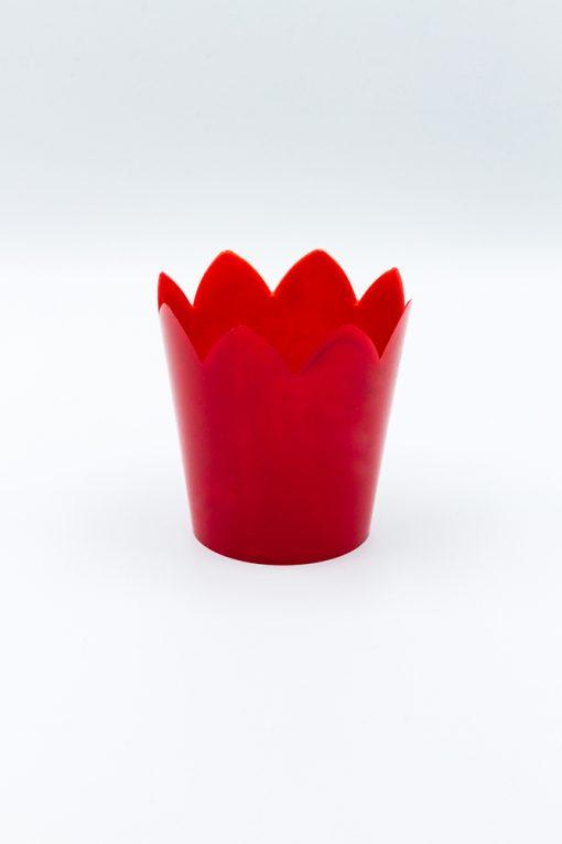cereria lodigiana flambeaux in plastica rosso